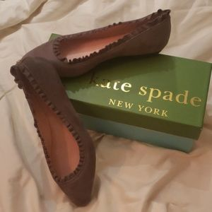 Kate Spade ♠️ Grey Suede Flats